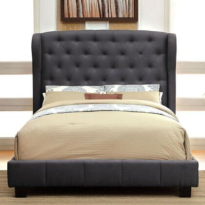 Furniture of America CM7050GYQBED Fontes Series  Queen Size Bed