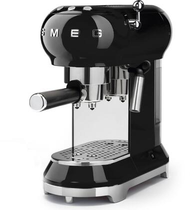 """Smeg ECF01xxUS 6"""" 50's Retro Style Espresso Coffee Machine with Removable Water Tank, Thermoblock Heating System, Stainless Steel Wrap, and Adjustable Cappuccino System, in"""