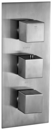Alfi AB2701-XX Square 2 Way Thermostatic Shower Mixer with Brass, Square Knobs, Sleek Modern Design, User-Friendly Installation, UPC Certification and  Diverter Knob in