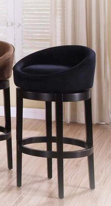 """Armen Living LCIGBAMFX30 Igloo Black Micro Fiber 30"""" Swivel Bar stool with Ebony Finished Legs and Removable Cover for Easy Cleaning in"""