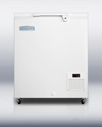 Summit EL AccuCold Commercial Chest Freezer with x cu. ft. Capacity, Digital Thermostat, Factory Installed Lock, Casters and Manual Defrost in White
