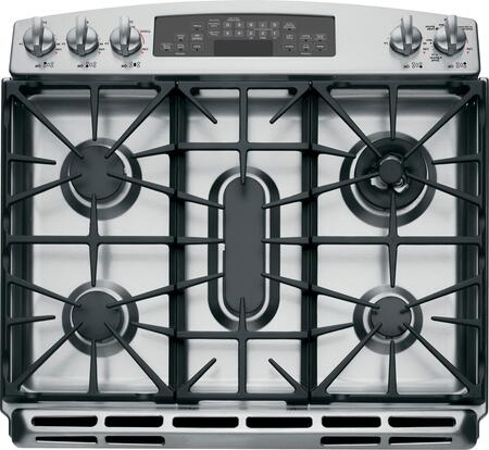 ge profile pgs920sefss 30 inch profile series slidein gas range with sealed burner cooktop 56 cu ft primary oven capacity warming in stainless steel
