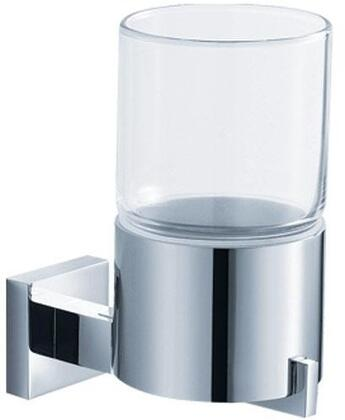 Kraus KEA144CH Aura Series Wall Mounted Glass Tumbler Holder, Chrome