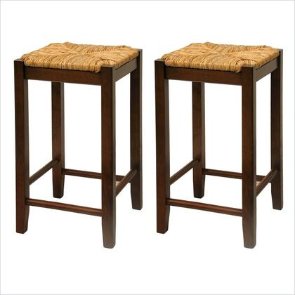 Winsome 9477X Set of 2, Rush Seat Stool, Assembled
