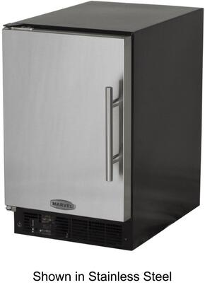 Picture of 15IMBBFL Solid Black Door 15 ADA Height Ice Maker with 15 lbs Storage Capacity  12 lbs Daily Production  Designer Handle  Manual Defrost  Crescent Style Ice