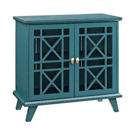 "Walker Edison W42FWAXX 32"" Gwen Fretwork Accent Console with 2 Doors, Burnished and Distressed Edges and Tapered Legs in"