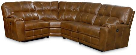 Lane Furniture 3800344504417 Colston Series Leather Sectional with Wood Frame in Tan