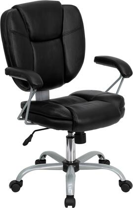 "Flash Furniture GO930BKGG 24.25"" Contemporary Office Chair"