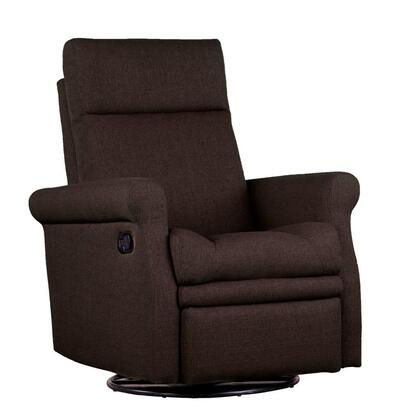 Dezmo D61498MLR Push Button Recline, Glider and Swivell, Arm Chair in Micro-Fiber Fabric
