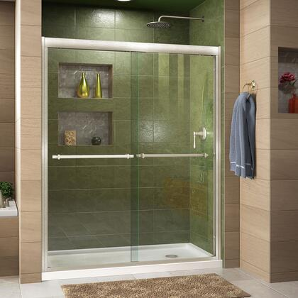 DreamLine Duet Shower Door RS43 BN Right Drain