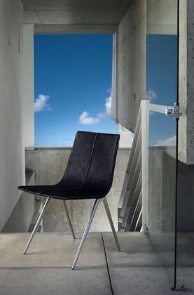 Modloft CDS094ASCH Mayfair Series Modern other Metal Frame Dining Room Chair
