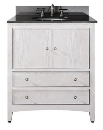 "Avanity WESTWOOD-VS30-WW Westwood 30"" Vanity, with Top, Sink, Two Soft Close Doors, and Two Soft Close Drawers, in White Washed Finish"