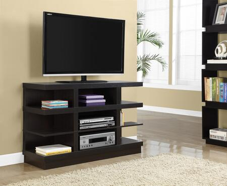 "Monarch I 268Y 60"" TV Stand with Think Panels, Contemporary Design and 9 Shelves"