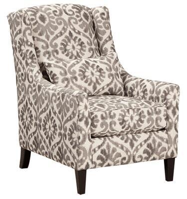 Milo Italia MI957225DOVE Ronnie Series Armchair Fabric Wood Frame Accent Chair