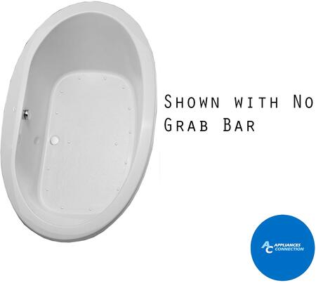 Toto ABR904T01Y Pacifica Series Drop-In Airbath Tub with Acrylic Construction, Slip-Resistant Surface, and Grab Bar, Cotton Finish