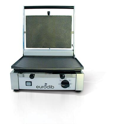 "Picture of CORT-F Medium Single Panini Grill 220 Volts / 50 Hertz with Cooking Surface: 14.5""x10"" in Stainless"