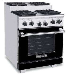 American Range ARR304SBK Titan Series Black Gas Freestanding Range with Sealed Burner Cooktop, 4.8 cu. ft. Primary Oven Capacity,