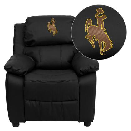 Flash Furniture BT7985KIDBKLEA40020EMBGG Childrens Bonded Leather Wood Frame  Recliners