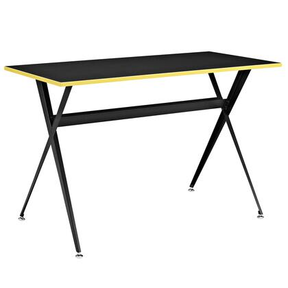 Modway EEI-1325 Expound Desk with Modern Design, Circular Chrome Plated Casters, Smooth Melamine MDF Top, Powder Coated Steel Legs and Dual Tone Style