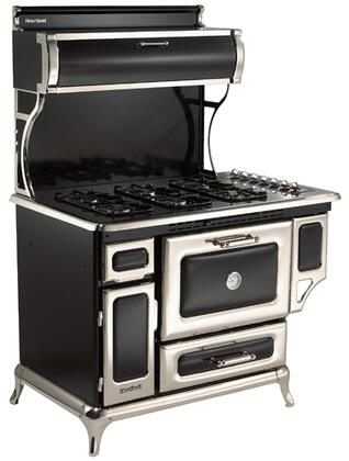 "Heartland 5210CDPBLK 48"" Classic Series Dual Fuel Freestanding Range with Sealed Burner Cooktop, 4 cu. ft. Primary Oven Capacity, Warming in Black"