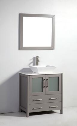 Legion Furniture WA7830 30in. Solid Wood Sink Vanity With Mirror-No Faucet