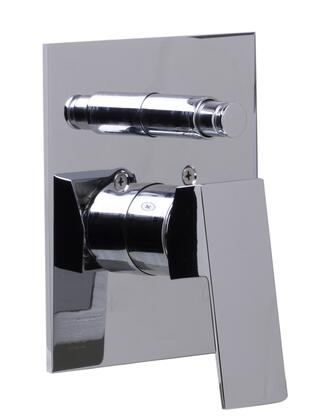 Alfi AB5601-xx Shower Valve Mixer with Square Lever Handle and Diverter, Brass, UPC Logo of Authenticity, Sleek Modern Design, Single Hole Wall Mount Installation, H & C letters Etched and Single Lever Control in