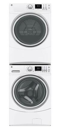 GE GE3PCFL27WE1STCKKIT1 Washer and Dryer Combos