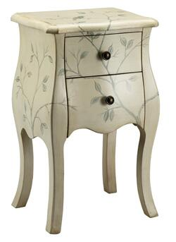 Stein World 47610 Monique Series Traditional  2 Drawers End Table