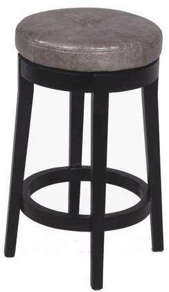 Chintaly 0299CSGRY Residential Bonded Leather Upholstered Bar Stool