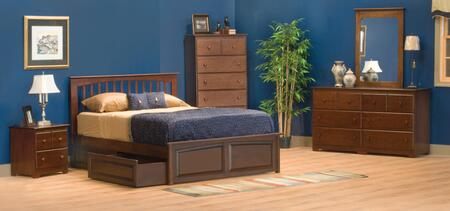 Atlantic Furniture BROOKLYNRPFQUEENAW Brooklyn Series  Queen Size Bed