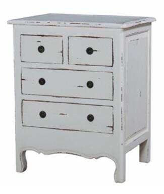 Bramble 23794 Provence Paris Series Rectangular Wood Night Stand