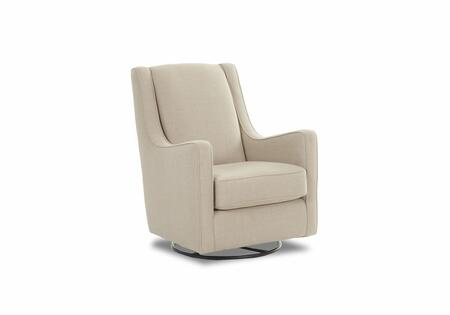 """Klaussner Lacey Collection K31390-SWGL- 31"""" Swivel Glider with Accent Pillow, Rocking and Track Arms in"""