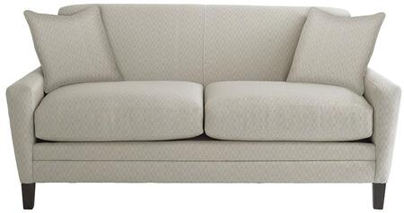 """Bassett Furniture Drake Collection 3923-52FC/FC155-X 52"""" Studio Sofa with Fashionable Canted Arm, Top Stitch, Box Seat Cushions, Sharp Base Border"""