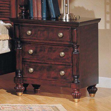 Yuan Tai ED6653N Edinburgh Series Rectangular Wood Night Stand