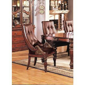 Acme Furniture 01961 Artemis Series Traditional Leather Wood Frame Dining Room Chair