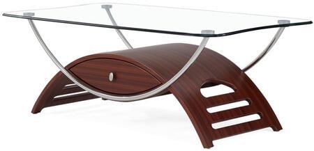 "Global Furniture USA 63C Modern 47""-Length Glass Top Coffee Table"