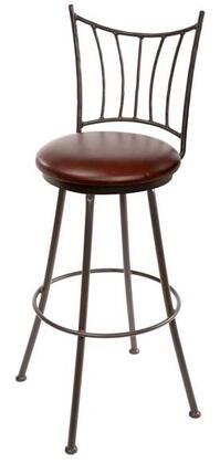 Stone County Ironworks 902766FABFBK Ranch Series  Bar Stool