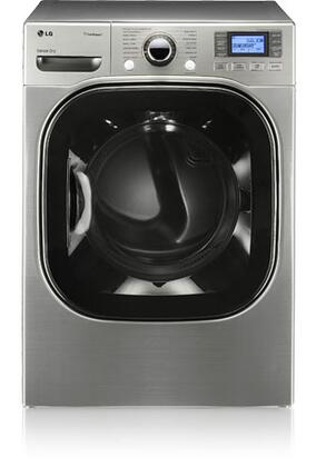 """LG DLGX3876V 27"""" Gas SteamDryer Series Gas Dryer with  5 Temperature Settings Steam Cycle Appliances Connection"""