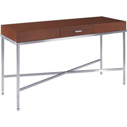 "Allan Copley Designs 20601-03X 19"" Wide Galleria Console Table With Drawer Storage, Brushed Stainless Steel Frame, In:"