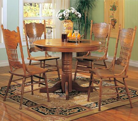 Coaster 5245NSETOAK Mackinaw Dining Room Sets