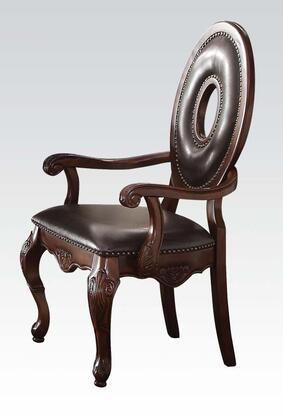 Acme Furniture 60315 Abbeville Series Transitional PU Leather Wood Frame Dining Room Chair