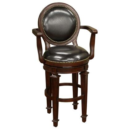 American Heritage 130764ESL15 Barstow Series Residential Leather Upholstered Bar Stool