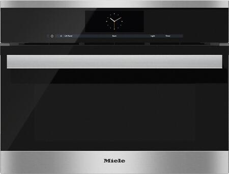 "Miele DGC68001x 24"" Combi-Steam Oven with M Touch Control, 1.7 cu. ft. Capacity, Non-plumbed Connection, MultiSteam Technology, True European Convection, and Wired Roast Probe, in"