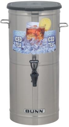 Bunn-O-Matic 37750.000x TCD- Tea Concentrate Dispenser With Nozzle, Solid Lid, Side Off-Set Handles, Built-in Pressure Regulator, in