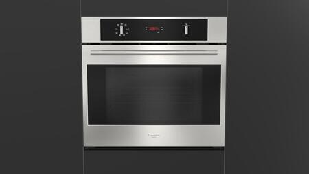 "Fulgor Milano F4SP30 30"" 400 Series Single Electric Wall Oven with 4.3 cu. ft. Capacity, 8 Cooking Functions, True European Convection Oven, Telescopic Rack and Safety Cool Door, in"