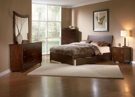 Atlantic Furniture PORTLANDFPFFULLAW Portland Series  Full Size Bed