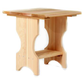 All Things Cedar ST24X Adirondack Magazine Table With Hardwood Doweling, Edges Routed For Clean Uniform Appearance & Rust Resistant Zinc Plated and/or Brass Hardware