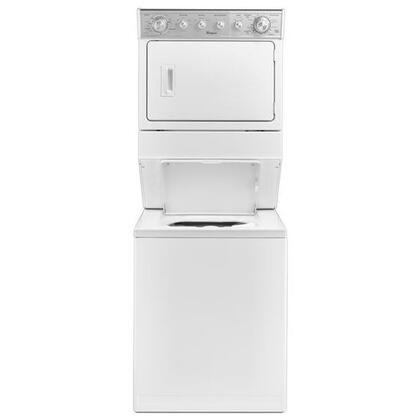 """Whirlpool WxxxTLV27FW 27"""" Laundry Center, Combination Washer/xxxx Dryer with 2.6 Cu. Ft. Washer Capacity, 5.9 cu. ft. Dryer Capacity, 6 Dry Cycles and 4 Wash Cycles in White"""