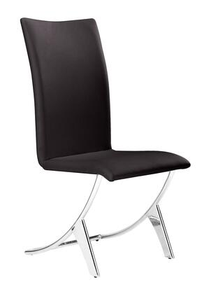 Zuo 102103 Delfin Series Modern Faux Leather Metal Frame Dining Room Chair