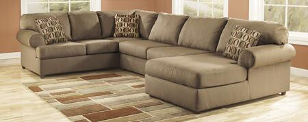 Sectional with LAF Sofa, RAF Chaise and Armless Loveseat in Mocha